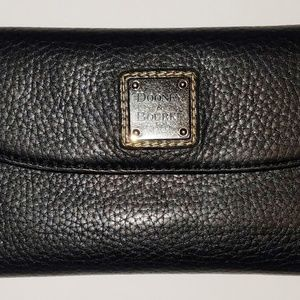 Dooney & Bourke Leather Fold Over Black Wallet